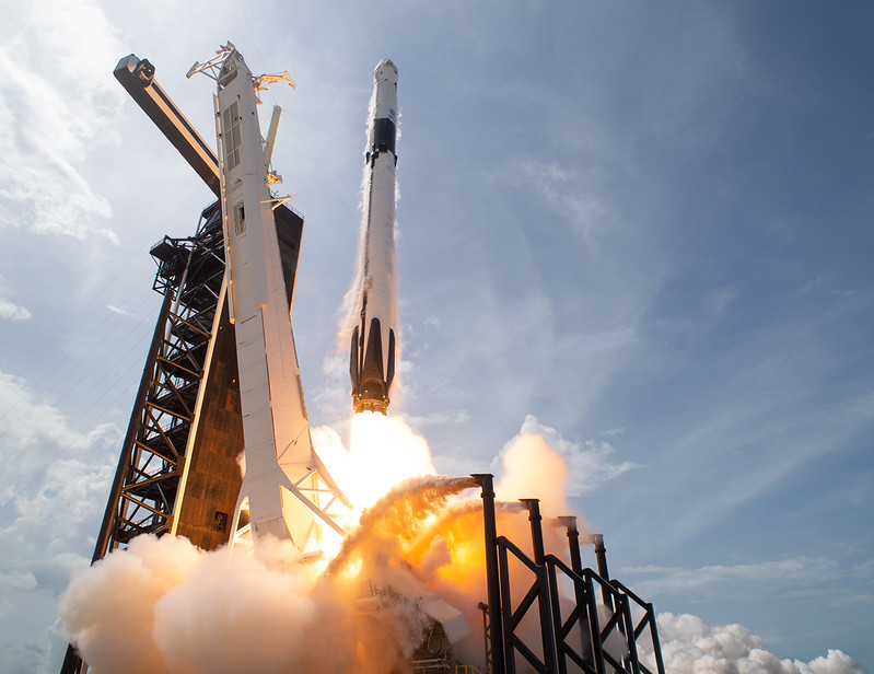 SpaceX Falcon 9 rocket carrying the company's Crew Dragon spacecraft is launched