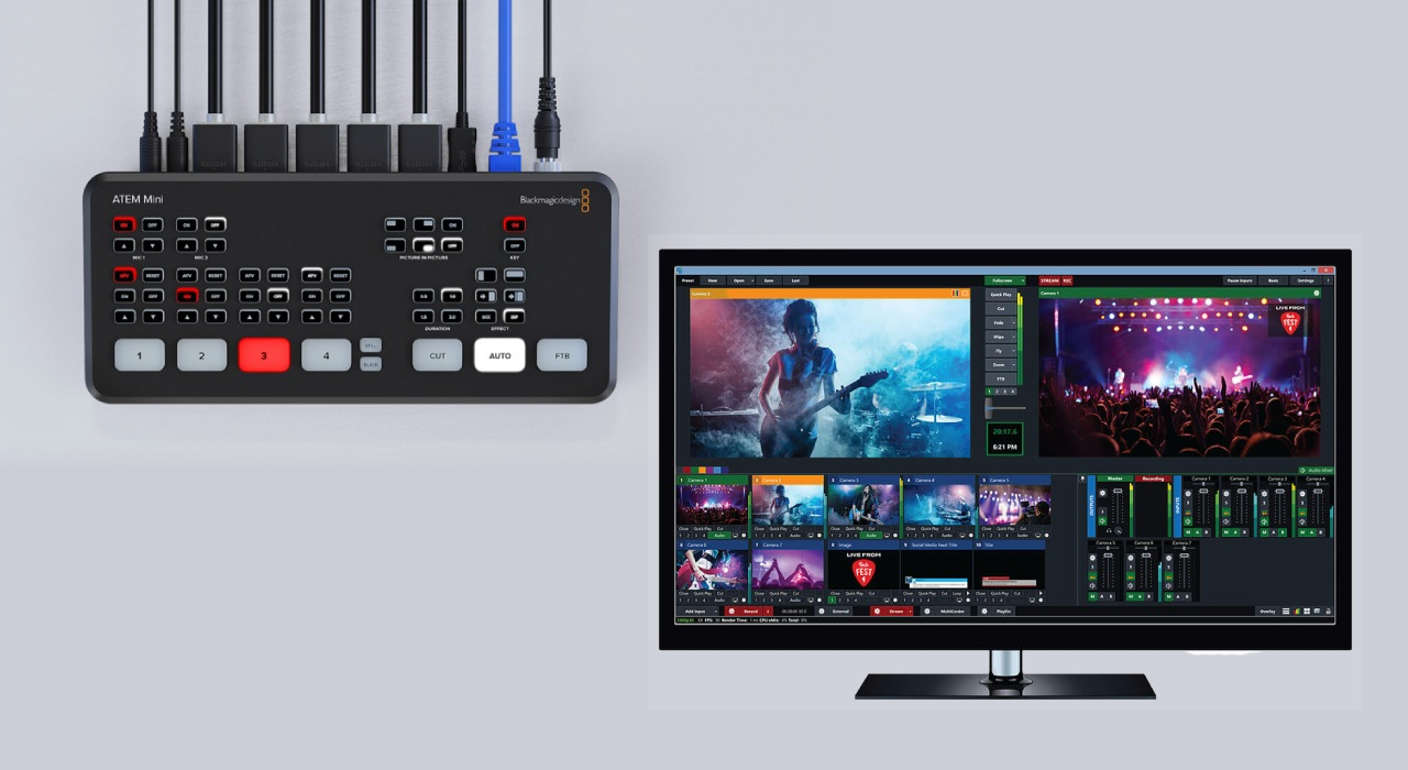 Comparison of software vs hardware switcher with ATEM mini pro and vmix software package