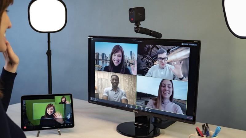 Video call with Mevo camera